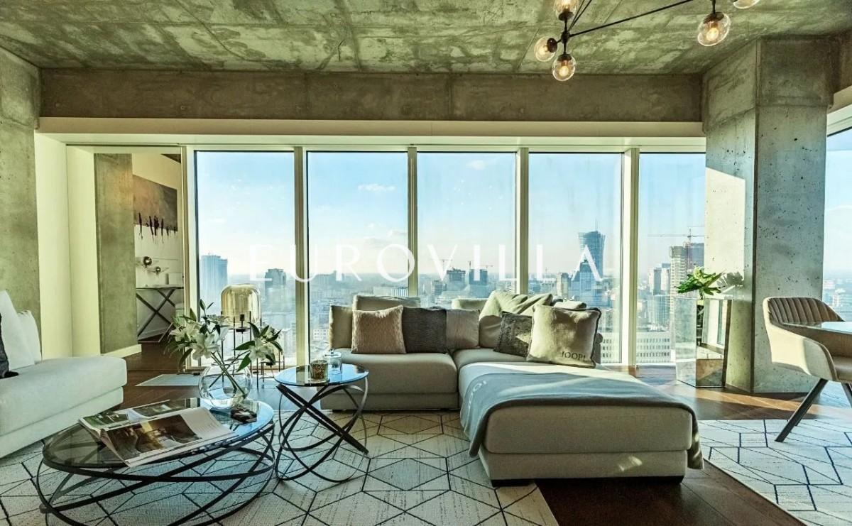 Panorama Warszawy z 21 piętra / centrum / 3 pokoje